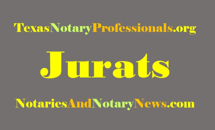 Which Texas Notary Laws Mention Jurats? (Very few!)